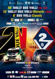 Rally Due Valli Verona manifesto   Banca Valsabbina