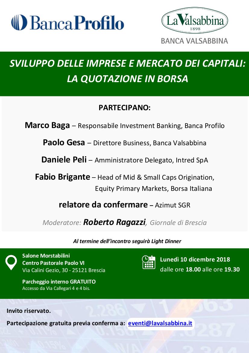 evento Banca Profilo 10 dicembre   Banca Valsabbina