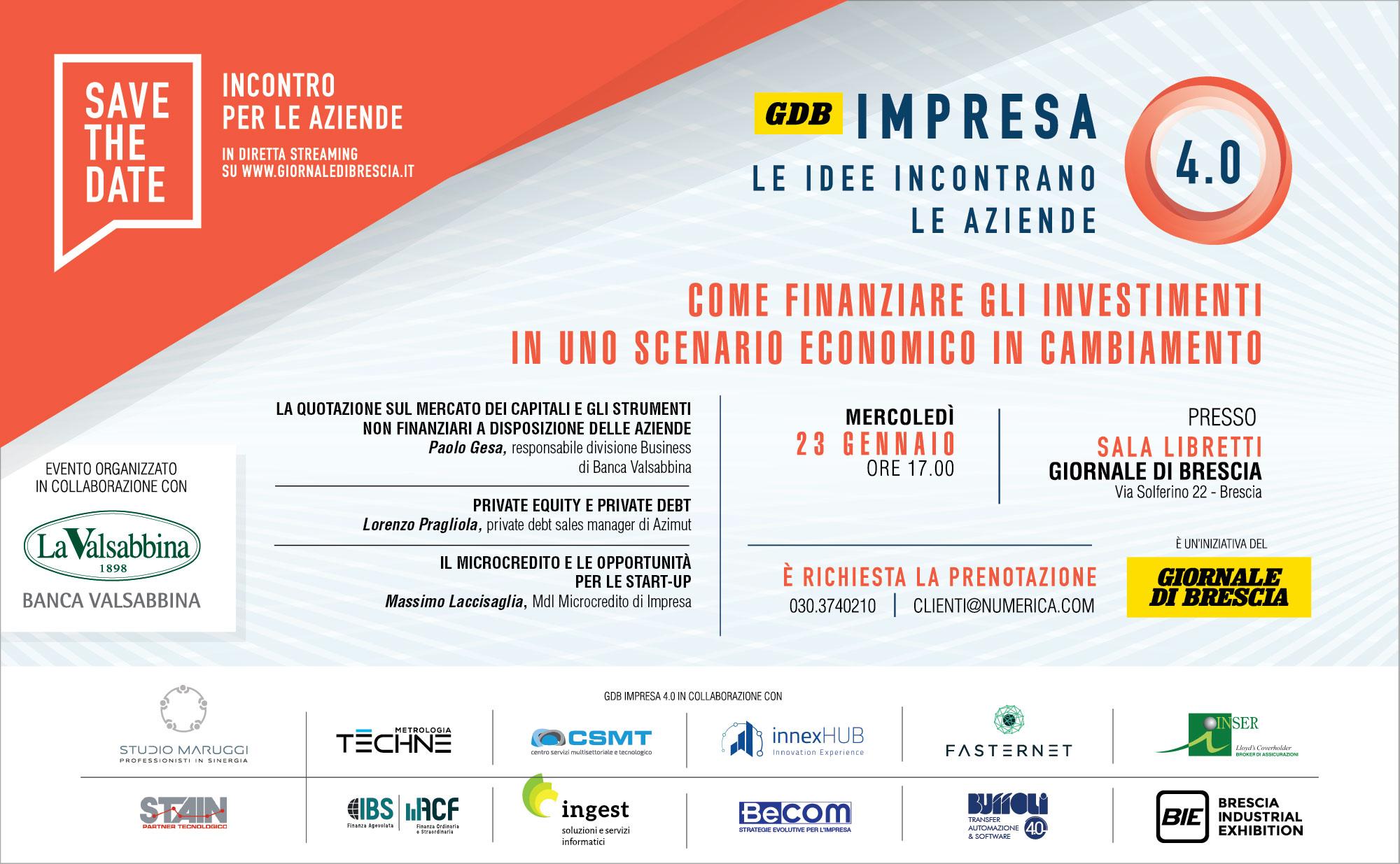 GdB Impresa 4.0 23 genn | Banca Valsabbina