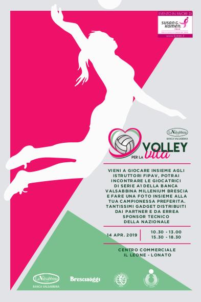 Volley per la Vita locandina | Banca Valsabbina
