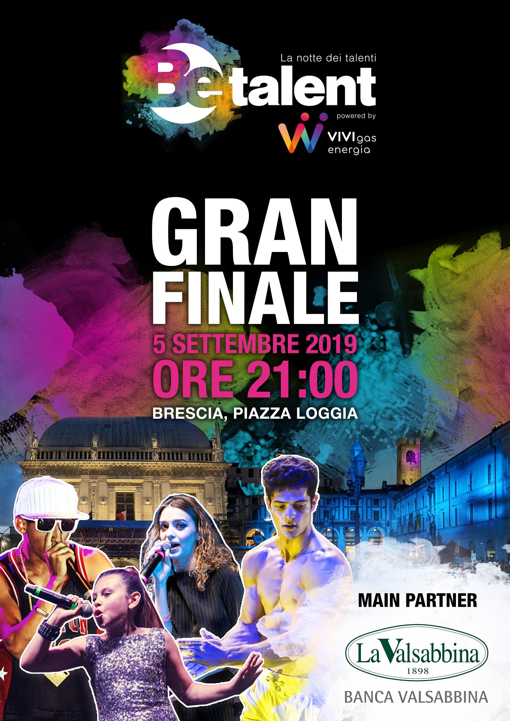 BeTalent 2019 Gran Finale locandina sponsor banca | Banca Valsabbina