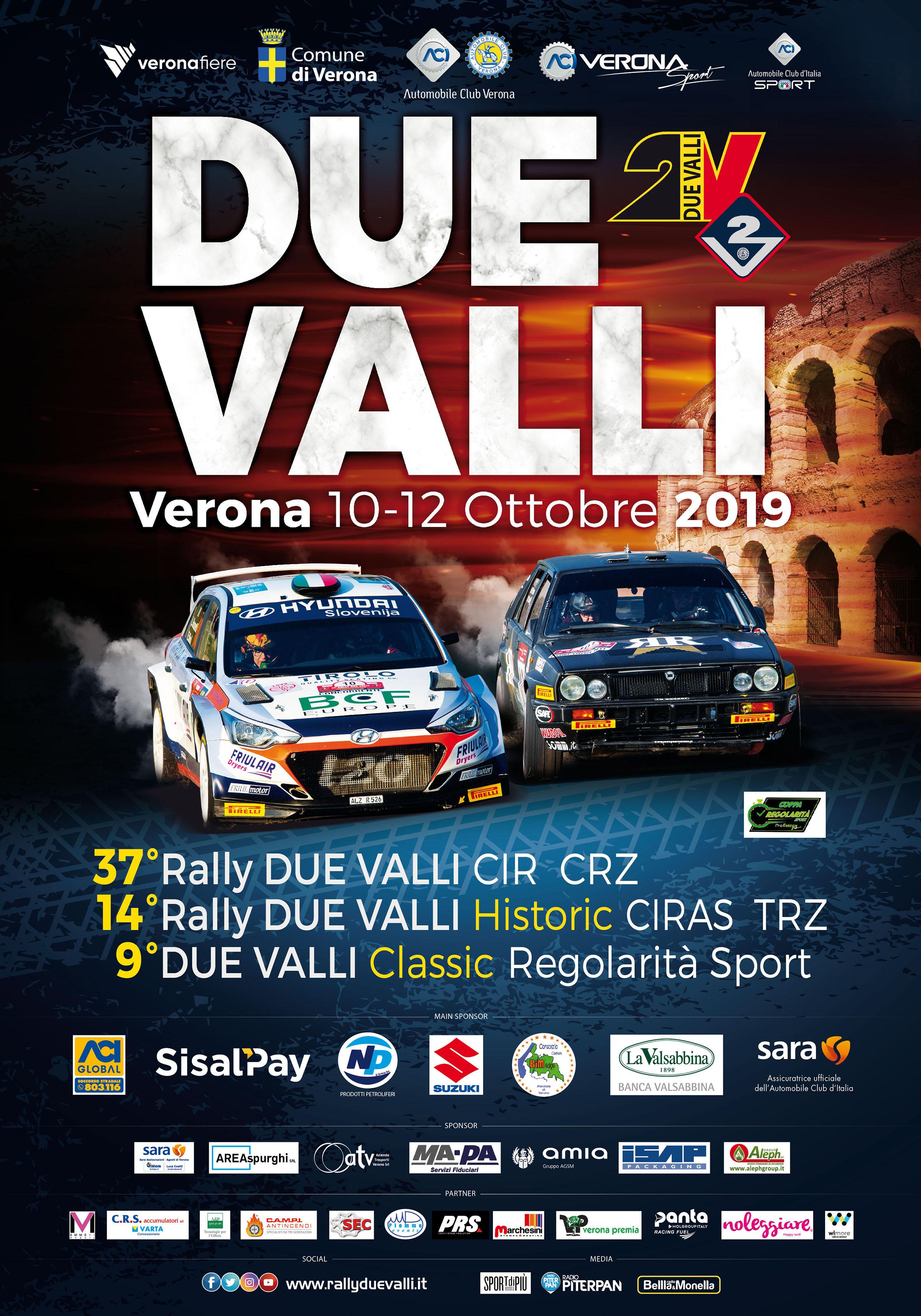 Rally Dye Valli manifesto | Banca Valsabbina