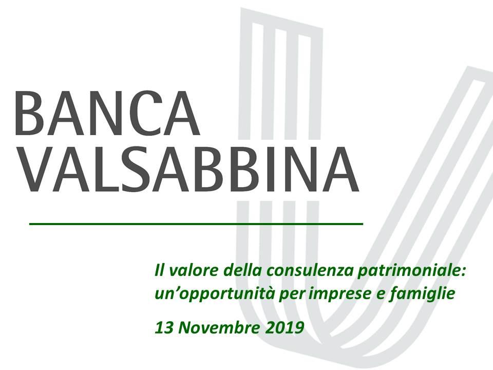 evento gestione patrimoniale slide 20191113   Banca Valsabbina