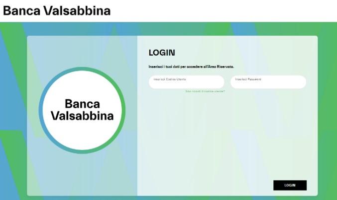 PAGINA LOGIN | Banca Valsabbina